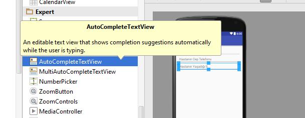 Android'te AutoCompleteTextView nasıl kullanılır?