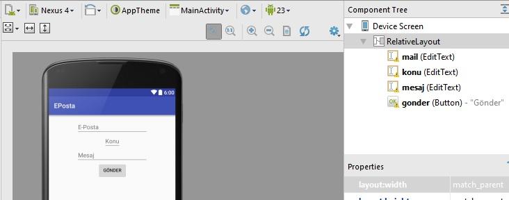 Android'te E-Posta gönderme uygulaması nasıl yapılır?
