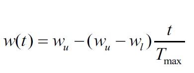 İterasyona bağlı atalet ağırlığı(inertia weight) parametresi nasıl kullanılabilir?